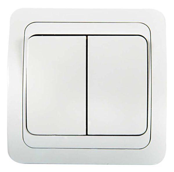Выключатель 2-кл. CLASSICO 2023 бел. ASD / IN HOME 4680005959860