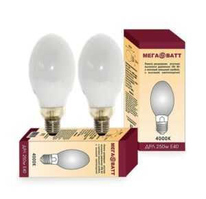 Лампа газоразрядная ртутная ДРЛ 250 E40 (20) МЕГАВАТТ 03014