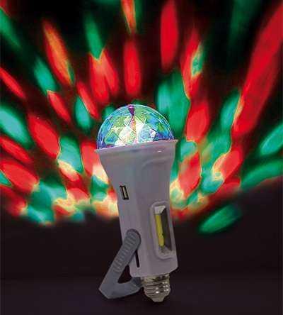 """Светильник """"Чудо-лампа"""" 4 в 1: диско-лампа Е27; диско-светильник (настольный или подвесной питание о"""
