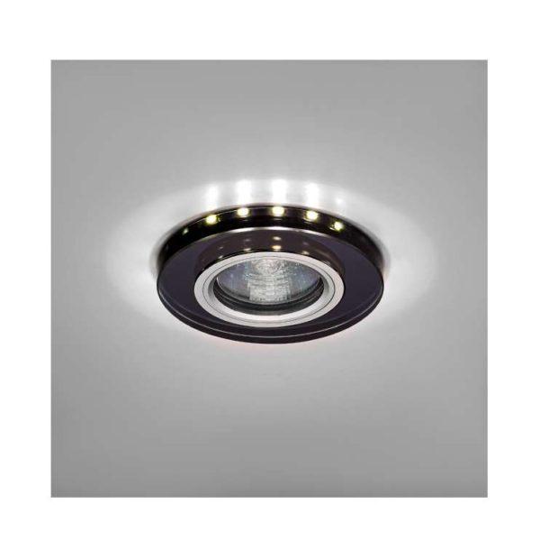 Светильник Bohemia LED 51 6 71 декор. гладк. стекло со светодиод. подсвет. MR 16 черн. ИТАЛМАК IT870