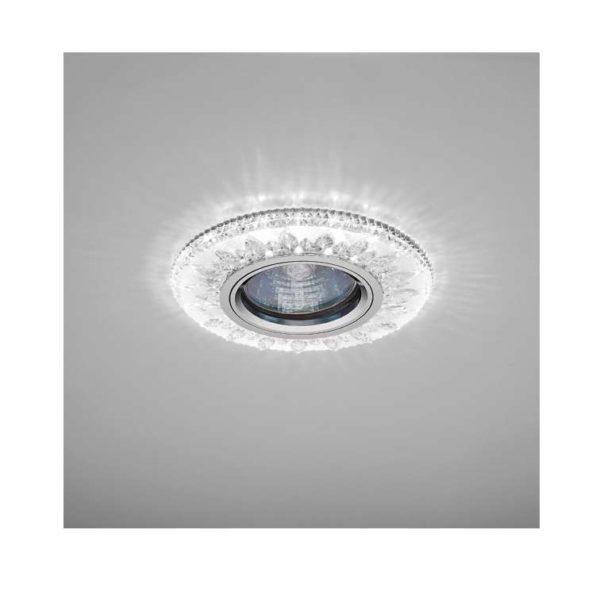 Светильник Emilia LED 51 2 70 декор. огран. полимер. со светодиод. подсвет. MR 16 прозр. ИТАЛМАК IT8