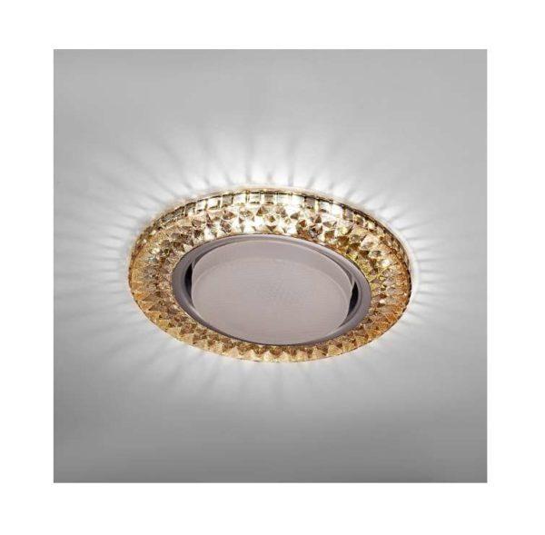 Светильник Emilia LED 53 1 76 декор. огран. полимер. со светодиод. подсвет. GX53 чайн. ИТАЛМАК IT869