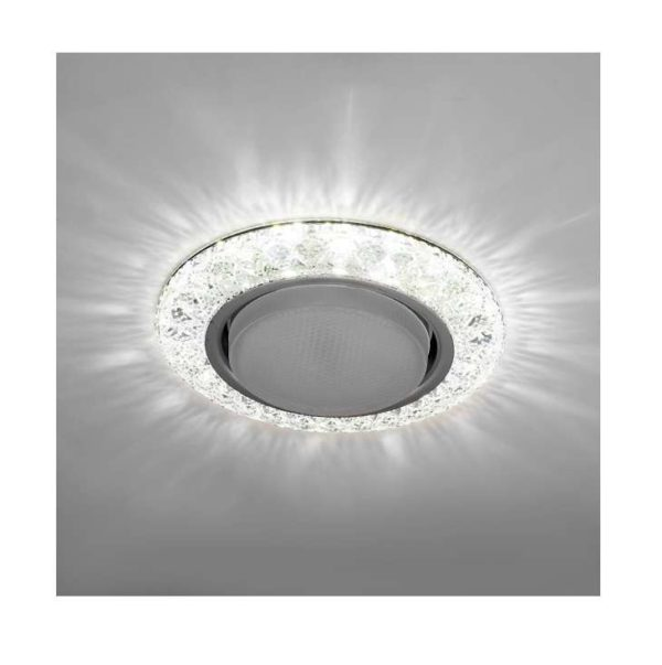 Светильник Emilia LED 53 2 70 декор. огран. полимер. со светодиод. подсвет. GX53 прозр. ИТАЛМАК IT86