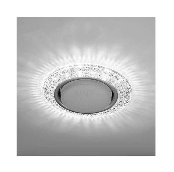 Светильник Emilia LED 53 3 70 декор. огран. полимер. со светодиод. подсвет. GX53 прозр. ИТАЛМАК IT86