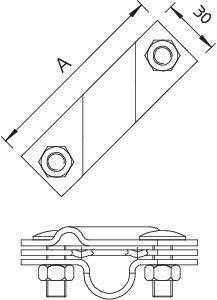 Клемма универс. для стержня заземл. 2760 20 FT OBO 5001641