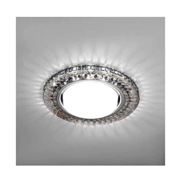Светильник Emilia LED 53 1 71 полимер со светодиод. подсветкой GX53 черн. ИТАЛМАК IT8690