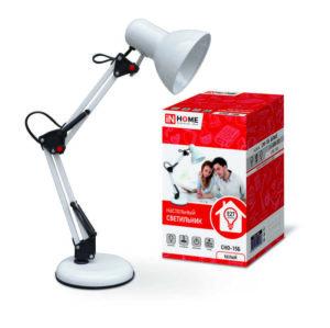 Светильник настольный под лампу СНО-15Б на основании 60Вт E27 бел. (коробка) IN HOME 4690612012896