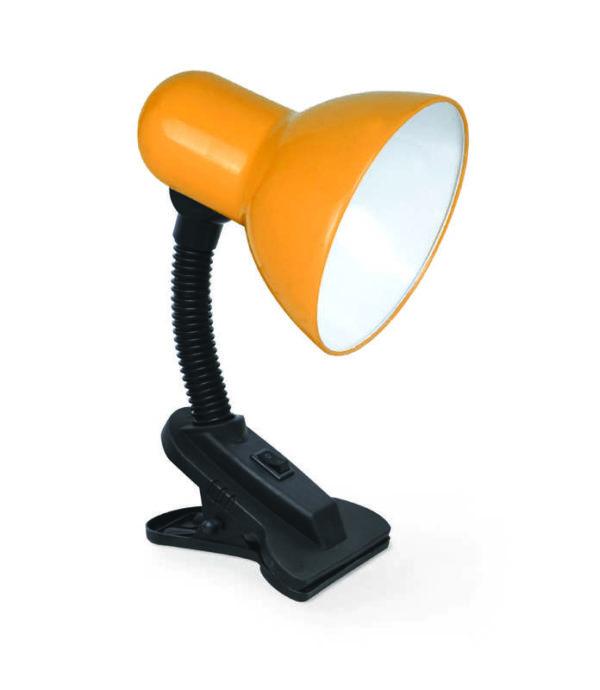 Светильник настольный под лампу СНП-01О на прищепке 40Вт E27 оранж. (мягкая упак.) IN HOME 469061201