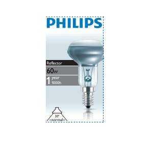 Лампа накаливания Refl 60Вт E14 230В NR50 30D 1CT/30 Philips 923348744206 / 871150038242978