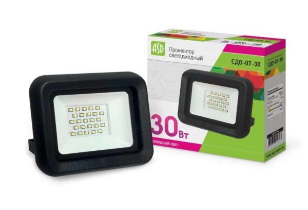 Прожектор СДО-07-30 светодиодный черн. IP65 ASD 4690612016467