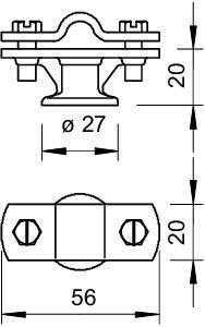 Держатель проволоки d8-10мм с перемыч. Тип:113 Z8-10 OBO 5229960