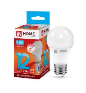 Лампа светодиодная LED-A60-VC 12Вт 230В E27 4000К 1080Лм IN HOME 4690612020242