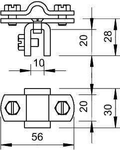 Держатель проволоки d8-10мм для листа до 10мм Тип:270 8-10 FT OBO 5317207