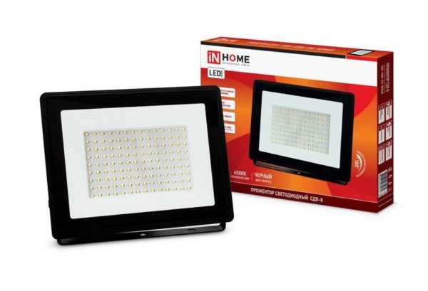 Прожектор светодиодный СДО-8 100Вт 230В 6500К 9500лм IP65 IN HOME 4690612030067