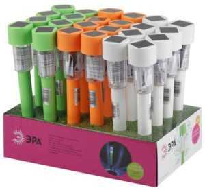 Светильник садовый SL-PL30-CLR солнечная батарея пластик цветн. 32см (24/1320) Эра Б0032593