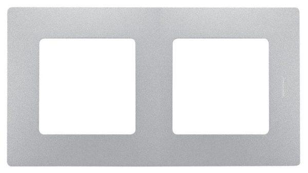 Рамка 2-м Etika алюм. Leg 672552