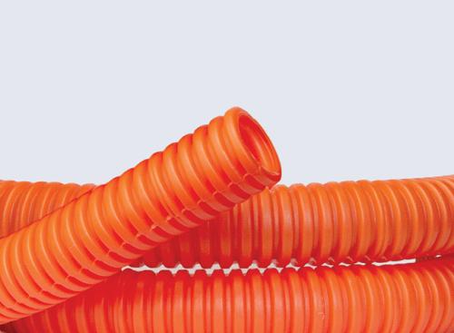 Труба гофрированная ПНД d25мм тяжелая c протяж. оранж. (уп.50м) DKC 71525
