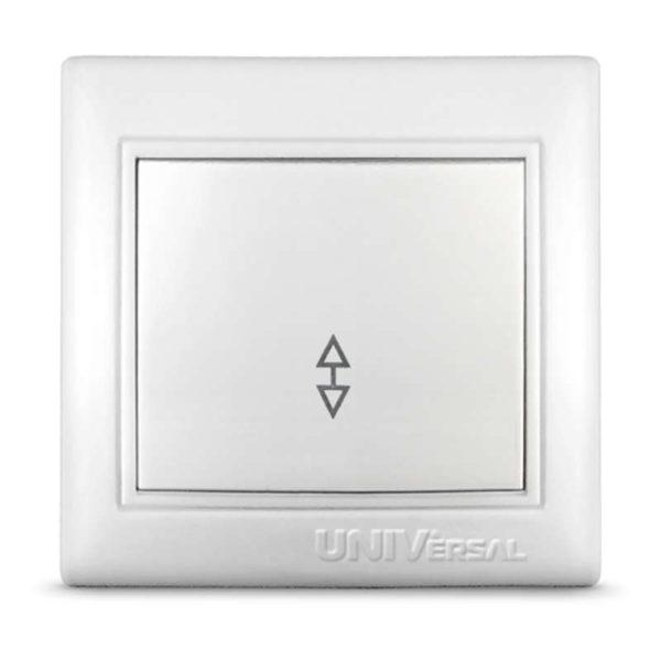 Выключатель проходной 1-кл. СП Севиль 10А IP20 бел. Universal С0025