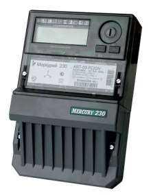 "Счетчик ""Меркурий"" 230 ART-03 CLN 3ф 5-7.5А 0.5s/1.0 класс точн. многотариф.; CAN PLCI ЖКИ Моск. вр."