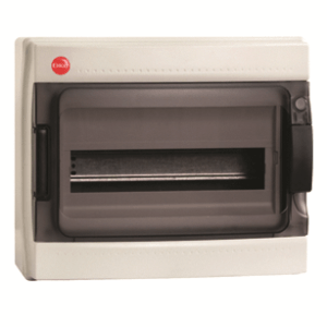 Бокс ОП IP65 12м сер/дым. двер. DKC 85612