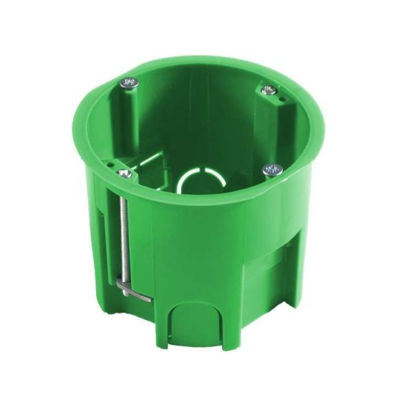 Коробка установочная СП 68х60 для гипсокарт. с метал. лапками HEGEL КУ1205