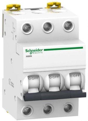 Выключатель автоматический модульный 3п C 32А 6кА iK60 Acti9 SchE A9K24332
