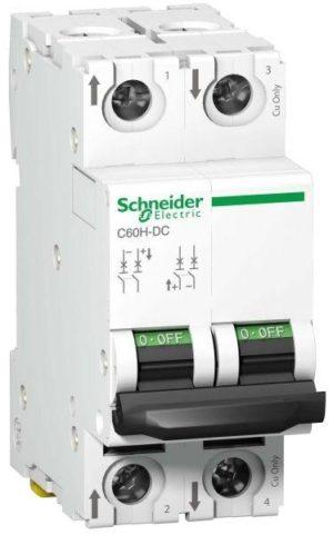 Выключатель автоматический модульный 2п C 6А 6кА C60H-DC DC SchE A9N61526