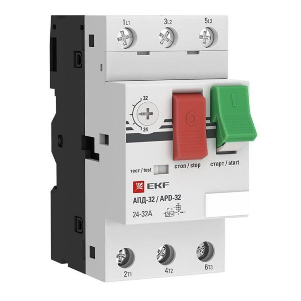 Выключатель авт. защиты двиг. АПД-32 6-10А EKF apd2-6-10