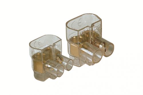 Клемма 2х(2.5-6мм) 2 пол. винт. п/п DKC B42