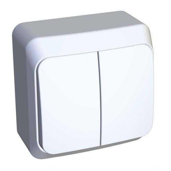 Выключатель 2-кл. ОП Этюд 10А IP20 с индик. бел. SchE BA10-006B