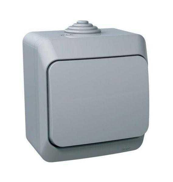 Выключатель 1-кл. ОП Этюд 10АХ IP44 сер. SchE BA10-041C