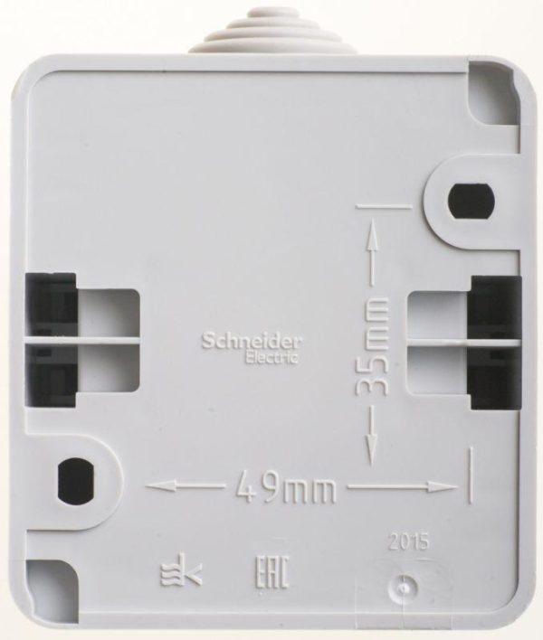 Выключатель 2-кл. ОП Этюд 10АХ IP44 сер. SchE BA10-042C