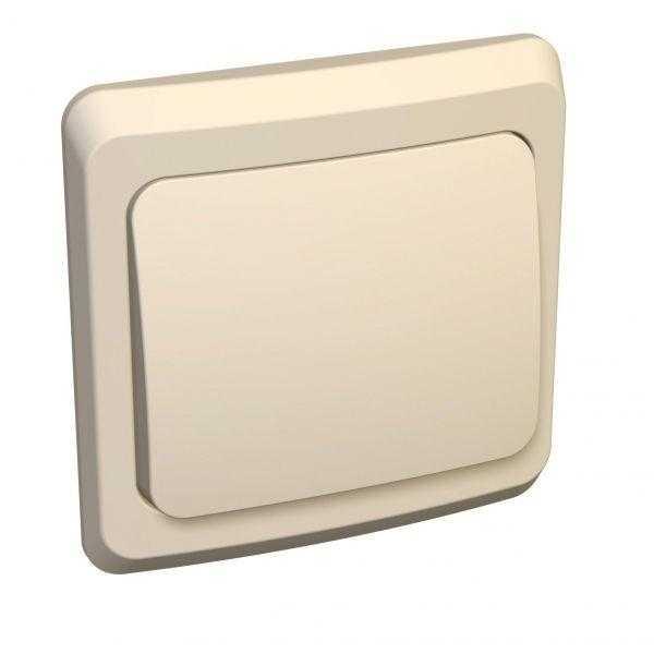 Выключатель 1-кл. СП Этюд 10А IP20 крем. SchE BC10-001K