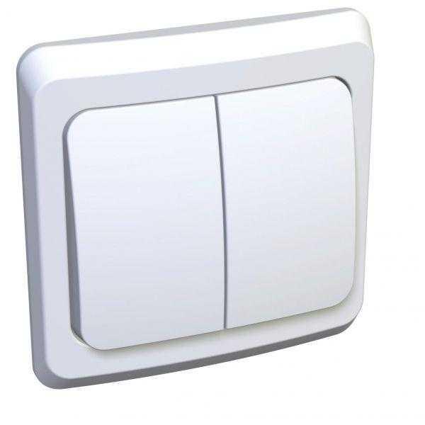 Выключатель 2-кл. СП Этюд 10А IP20 бел. SchE BC10-002B