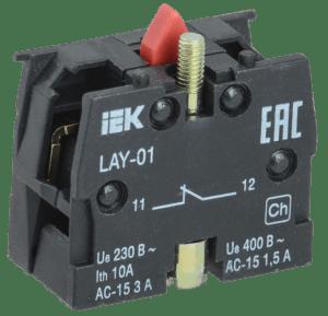 Блок контактный 1р для LAY5 ИЭК BDK11