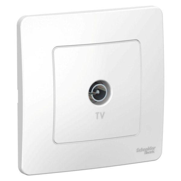 Коннектор TV СП BLANCA бел. SchE BLNTS000011
