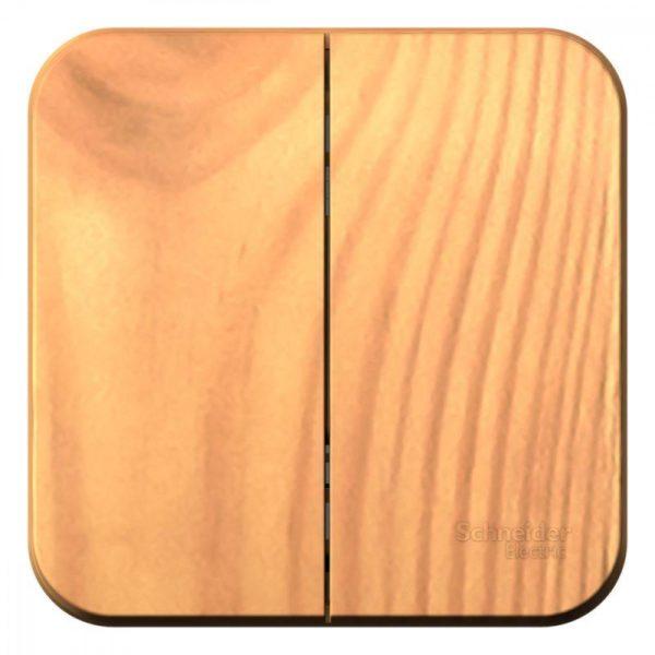 Выключатель 2-кл. ОП BLANCA (сх.5) 10А 250В изол. пласт. ясень SchE BLNVA105015