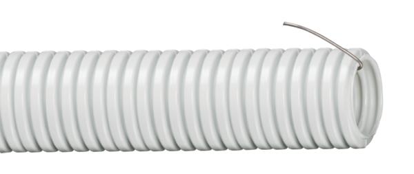 Труба гофрированная ПВХ d16мм с зондом сер. (уп.10м) ИЭК CTG20-16-K41-010I