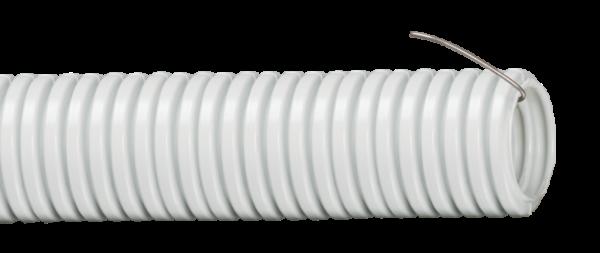 Труба гофрированная ПВХ d16мм с зондом сер. (уп.100м) ИЭК CTG20-16-K41-100I