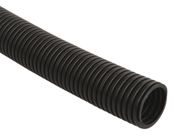 Труба гофрированная ПНД d20мм с зондом черн. (уп.25м) ИЭК CTG20-20-K02-025-1