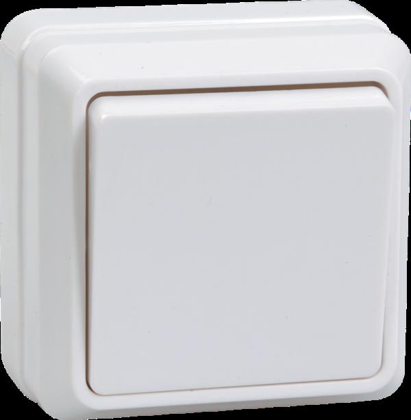 Выключатель 1-кл. ОП ОКТАВА 10А 250В бел. IP20 ВС20-1-0-ОБ ИЭК EVO10-K01-10-DC