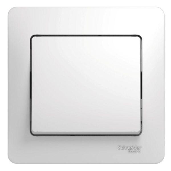 Выключатель 1-кл. СП Glossa 10А IP20 10AX в сборе бел. SchE GSL000112