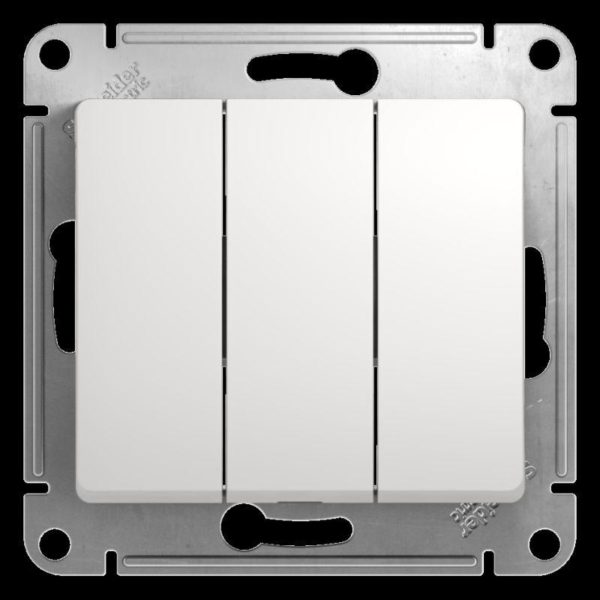 Механизм выключателя 3-кл. СП GLOSSA 10А IP20 10AX бел. SchE GSL000131