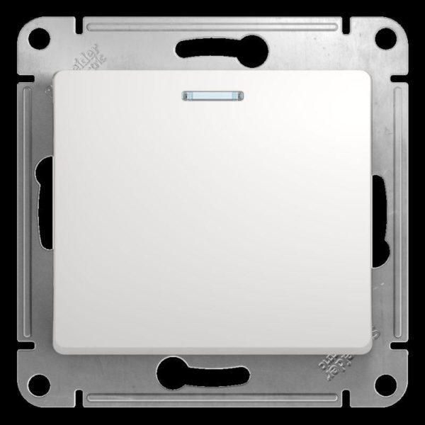 Механизм переключателя 1-кл. СП Glossa сх. 6а 10AX с подсветкой бел. SchE GSL000163