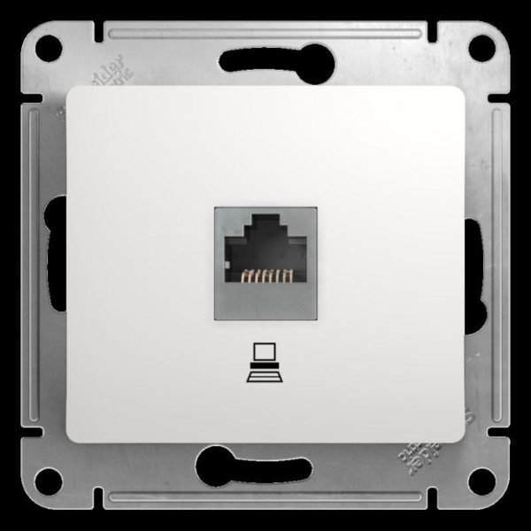 Механизм розетки комп. 1-м СП Glossa RJ45 бел. SchE GSL000181K
