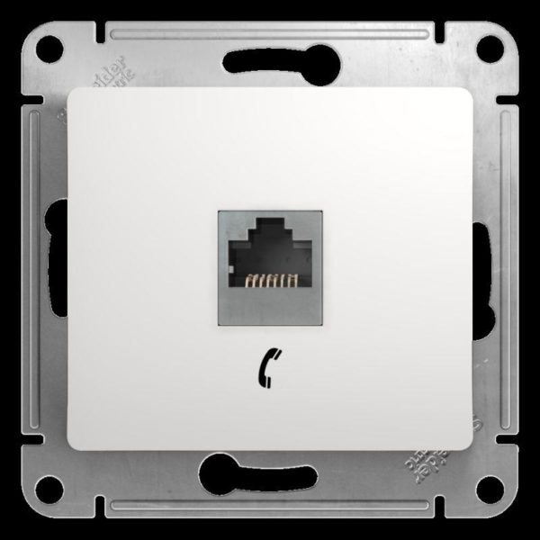 Механизм розетки телеф. 1-м СП Glossa RJ11 бел. SchE GSL000181T