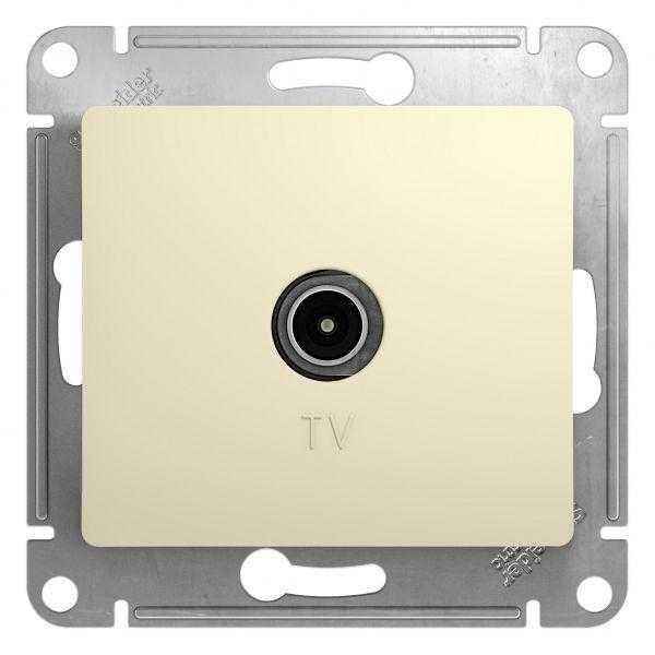 Механизм розетки TV 1-м СП Glossa проходной 4DB беж. SchE GSL000292
