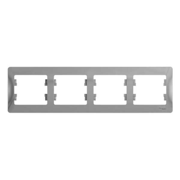 Рамка 4-м Glossa горизонт. алюм. SchE GSL000304
