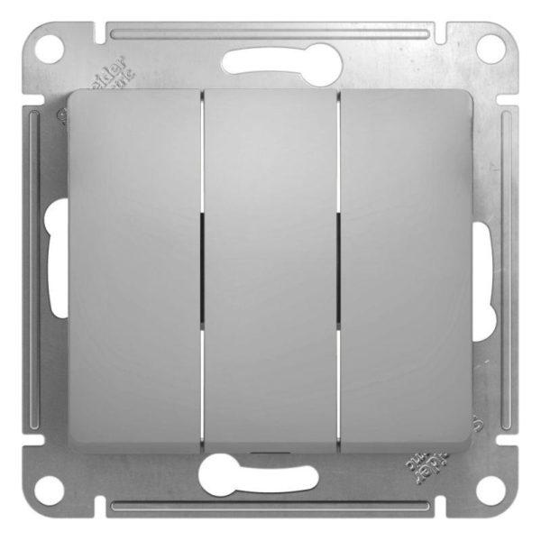 Механизм выключателя 3-кл. СП GLOSSA 10А IP20 10AX алюм. SchE GSL000331