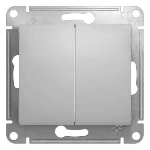 Механизм переключателя 2-кл. СП Glossa сх.6 10AX алюм. SchE GSL000365